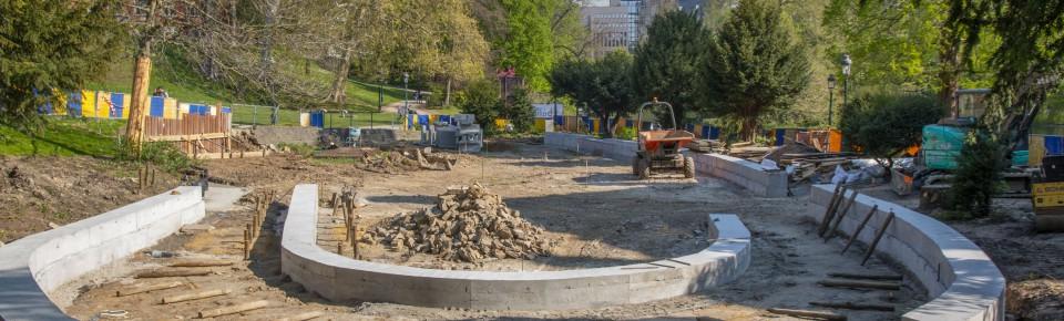 Herinrichting van het Leopoldpark: de zuidkant