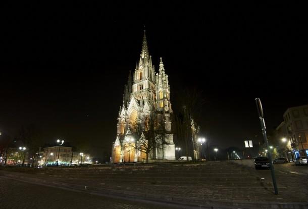 Verlichting van de Kerk van Laken - Beliris