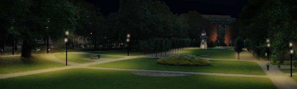 Illuminations au Parc du Cinquantenaire